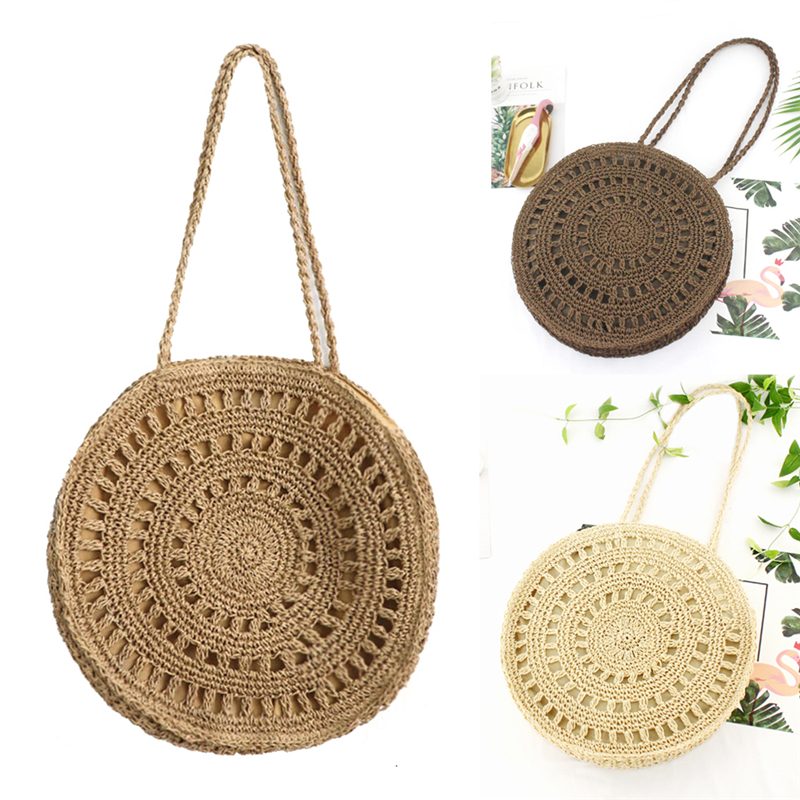 Women New Pastoral Style Hollowed Out Wicker Handbag Straw Woven Summer Rattan Totes Beach Bag|Top-Handle Bags|   - AliExpress