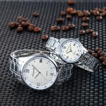 Часы наручные стальные для мужчин и женщин Роскошные водонепроницаемые