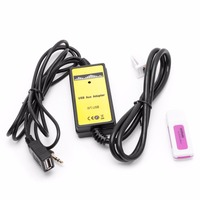 OOTDTY Car Audio CD Adapter Changer MP3 USB Interface AUX SD USB Data Cable 2x6Pin For
