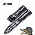 UTHAI Z03 Krokodil Leder Armband 12/14/16/18/19/20/22/ 24mm Herren Damen Uhr Band