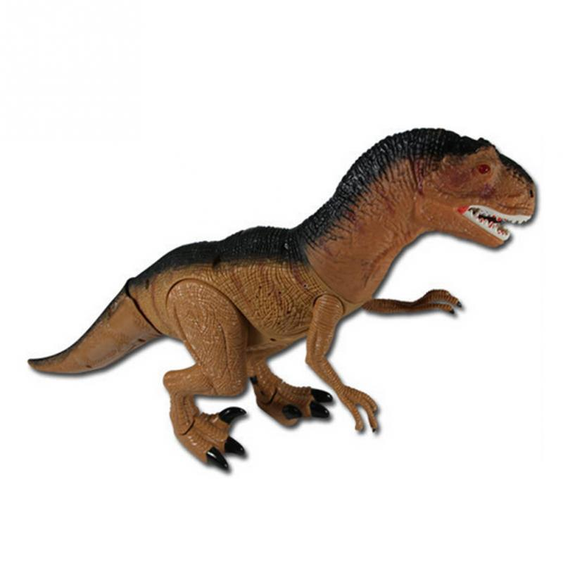 Remote Control Tyrannosaurus Velociraptor Giganotosaurus Rugops RC Walking Dinosaur Toy with Shaking Head Light Sounds remote control 1 32 detachable rc trailer truck toy with light and sounds car