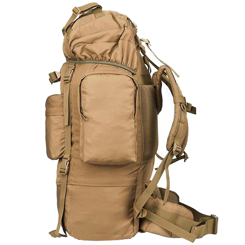 Caliente 70L gran capacidad al aire libre bolso militar mochila táctica Camping senderismo impermeable resistente al desgaste Nylon mochila - 5