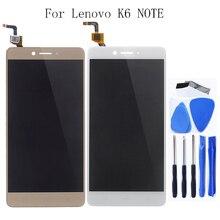 مناسبة لينوفو K6 ملاحظة K53 A48 LCD تعمل باللمس محول الأرقام لينوفو K6 ملاحظة شاشة LCD الهاتف المحمول اكسسوارات + أدوات