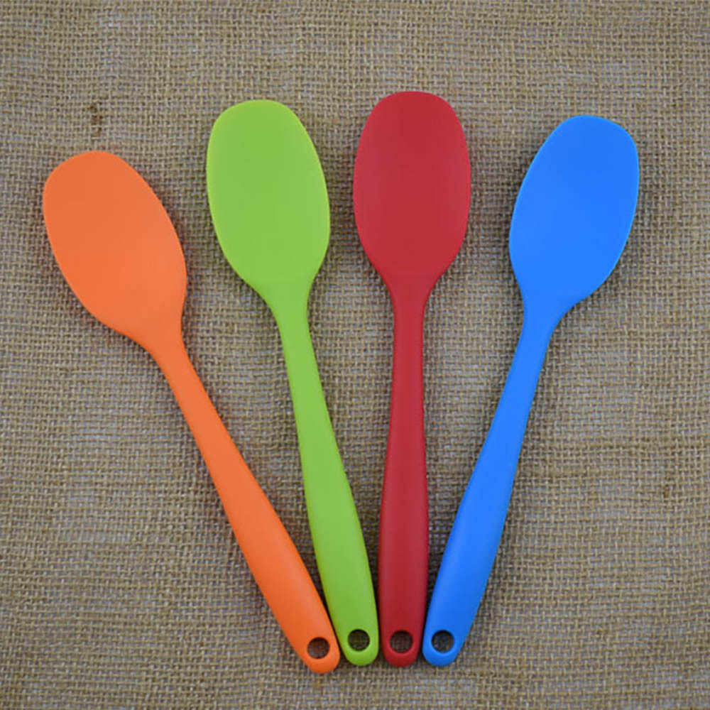 Spatula Soup Spoon Kitchenware Silicone Kitchen Bakeware Utensil Spoons And Scoop Cooking Tools silicone spoon Dropshipping NEW