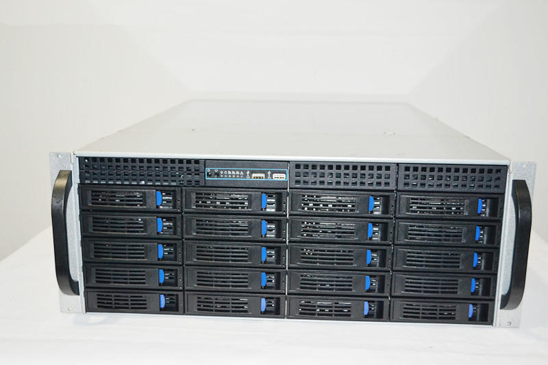 4U 20 hard disk hot plug chassis industrial storage rack type chassis HD KTV storage case