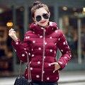 2017 Marca Nueva venta Caliente de la moda de invierno de las mujeres prendas de vestir exteriores delgada abajo Señoras Chaqueta de algodón acolchado Abrigo ropa de trabajo barato al por mayor