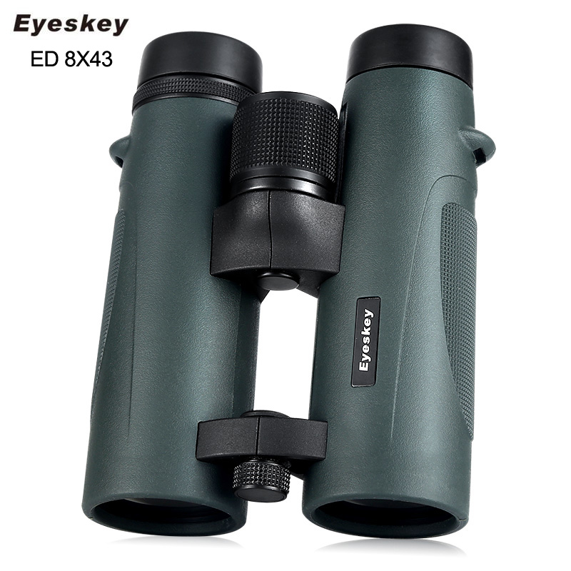 ED Glass 8x43 Eyeskey Binoculars Waterproof Telescope Bak4 Prism Optics Camping Hunting Scopes Powerful Professional Binoculars nikula 8x42 high definition waterproof binoculars telescope bak4 prism multilayer broadband coating glass m7078