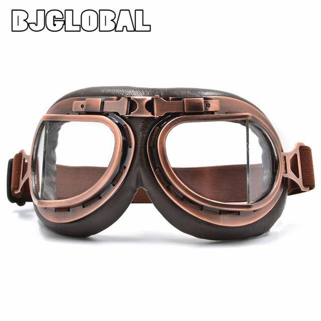 2016 NEW WWII Vintage Harley style motorcycle gafas motocross moto goggles Scooter Goggle Glasses Aviator Pilot Cruiser