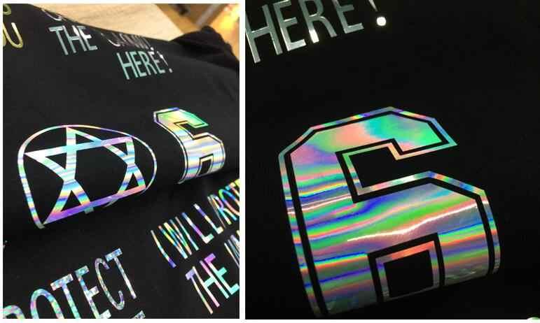 "1 folha 12 ""x 20""/25cm x 50cm laser holograma arco-íris transferência térmica vinil tshirt ferro no filme htv"