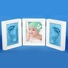DIY Photo Frame Imprint Soft Clay Cute Baby Footprint Hand Print Cast Set Gift
