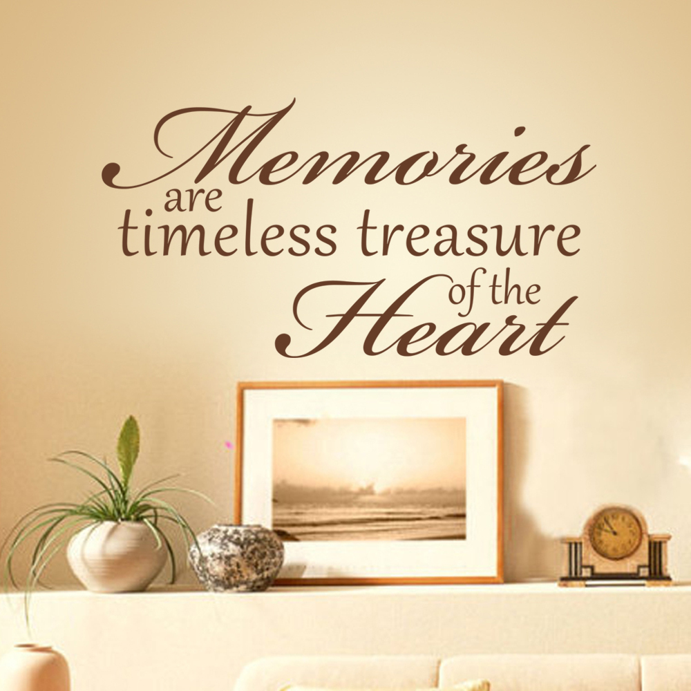 Memories Are Timeless Treasures of The Heart Vinyl Wall Word Decal ...