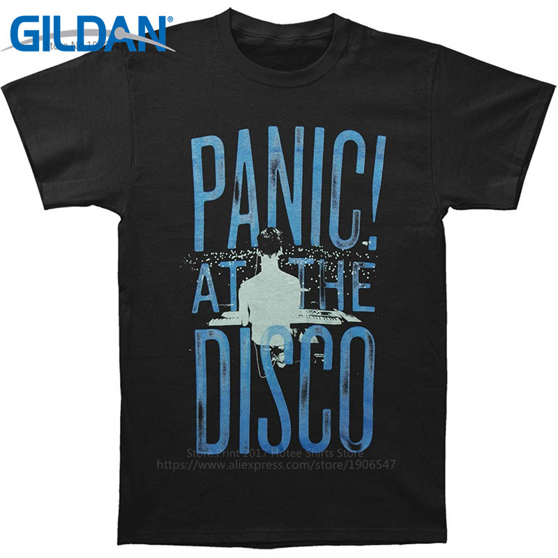 T Shirt Great Quality Funny Cotton MenS Panic At The Disco Short Sleeve Casual Crew Neck Tee Shirts