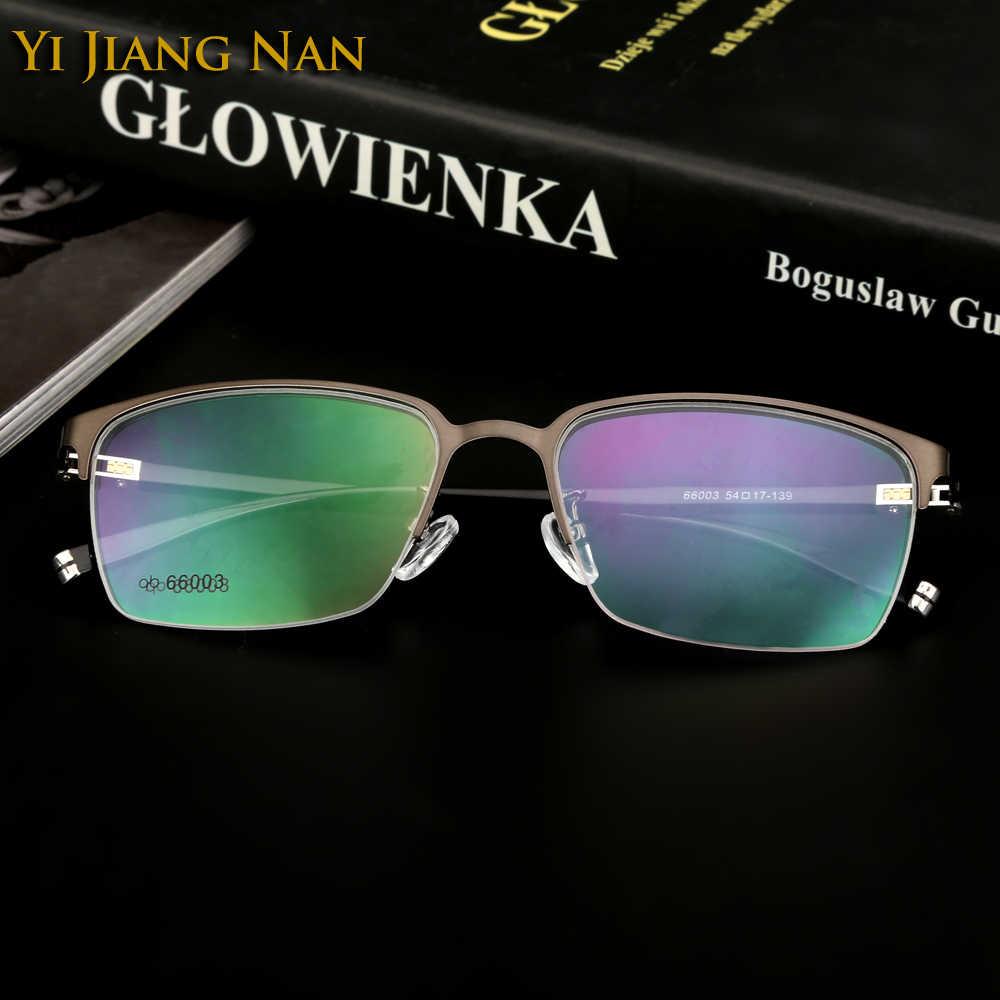 30b36e9013 Yi Jiang Nan Brand Fashion Men s Eyewear Big Circle Eyewear Trend  Progressive Glasses Frames Student Adult