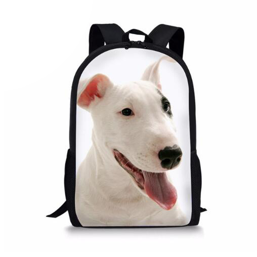 New Pit Bull Terrier Printed School Bags for Teenagers Girls Schoolbag Bookbag Student Shoulder Backpacks Animal