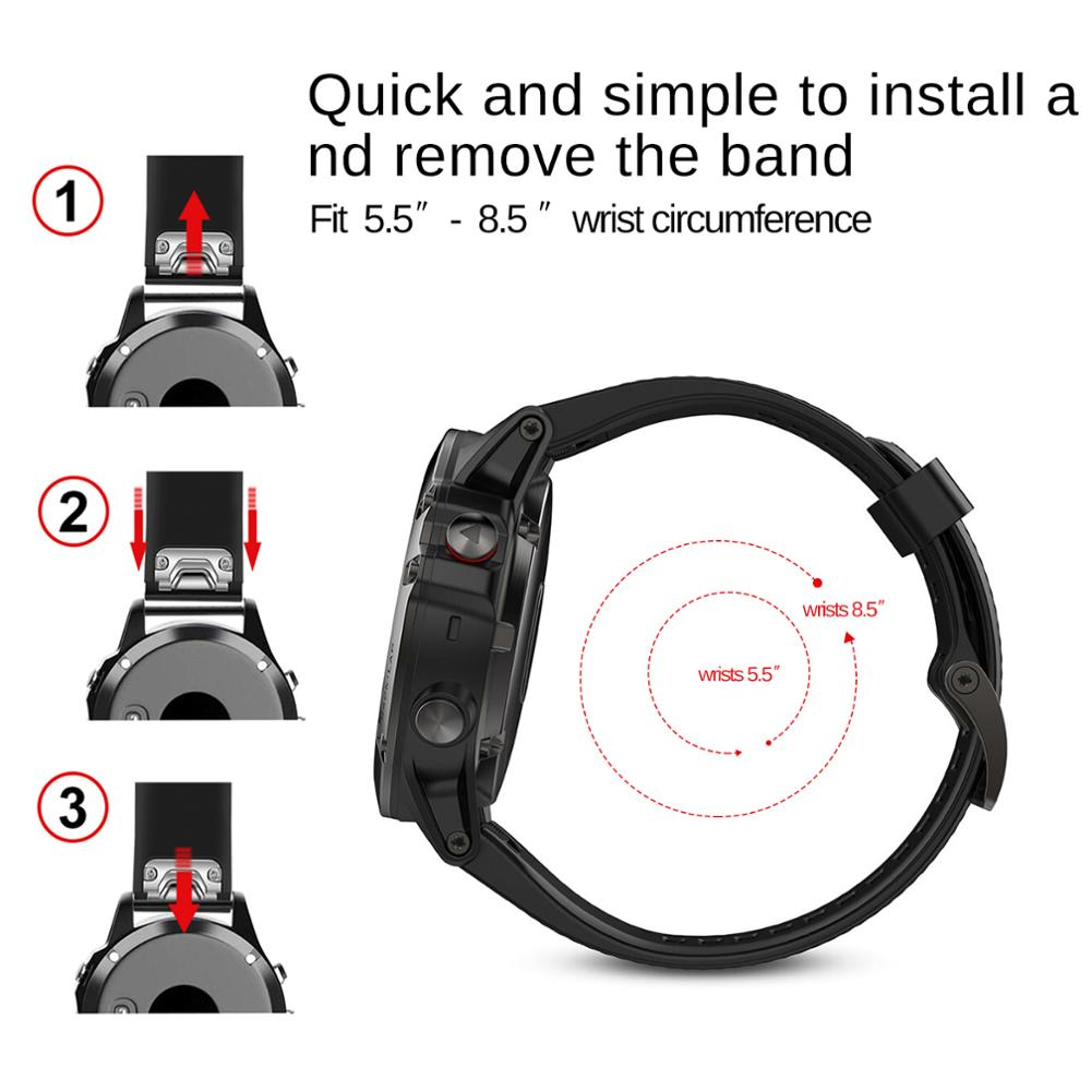 Watch band Quick fit Wrist Band Watch Strap for Garmin Fenix 5 forerunner 935 GPS Watchband for garmin fenix 3 HR fenix 5S plus in Smart Accessories from Consumer Electronics