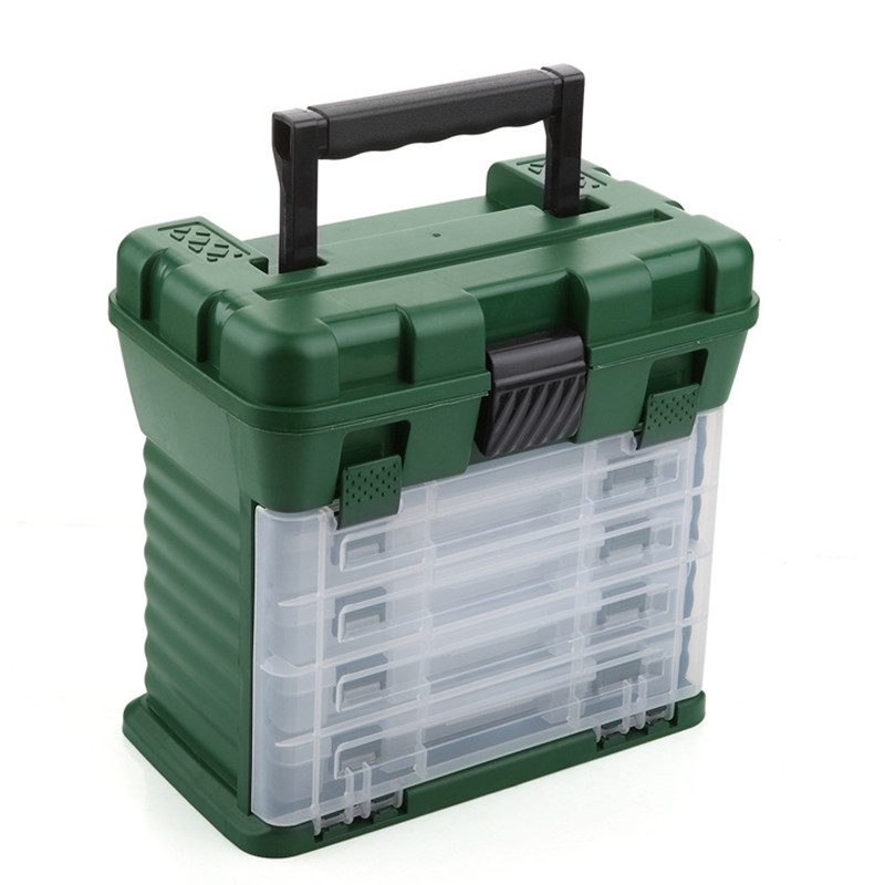 5 Layers Portable Tool Box 26*26*17CM Handle Hardware Spare Parts Storage Case Component Fishing Tackle Box Outdoor Organizer