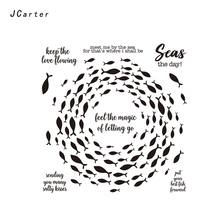 JC Shoal of Fish Rubber Stamps for Scrapbooking Sheet Silicone Seals Craft Stencil Album Clear Paper Card Making Template