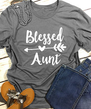 fa55d49596573 Blessed Aunt Hear Arrow T-Shirt Arrow Harajuku Printed Tee Girl Gift Aunt  Graphic Stylish Clothes Tops Aesthetic Trendy t shirts
