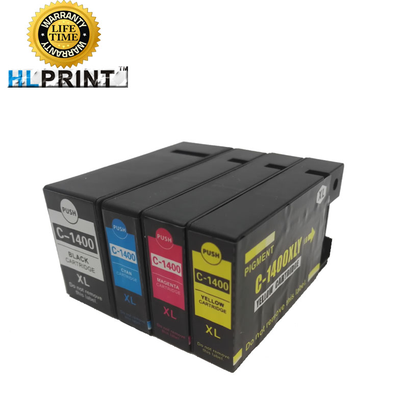 PGI1400XL 1400XL ink cartridge compatible for canon MAXIFY MB2040 MB2140 MB2340 MB2740 printer 4pcs/set ink type pigment мфу canon maxify mb2740