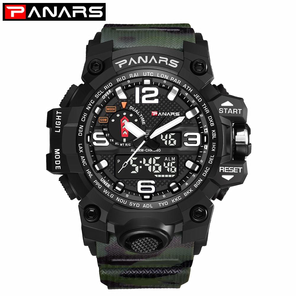 61f08410e7c Comprar PANARS Militar Esportes Relógios Homens Relógio De Quartzo ...