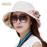 517872e9f6f SIGGI Womens Linen Summer Sun Hat bucket chapeu feminino praia chapeau fem foldable  wide brim UPF50+