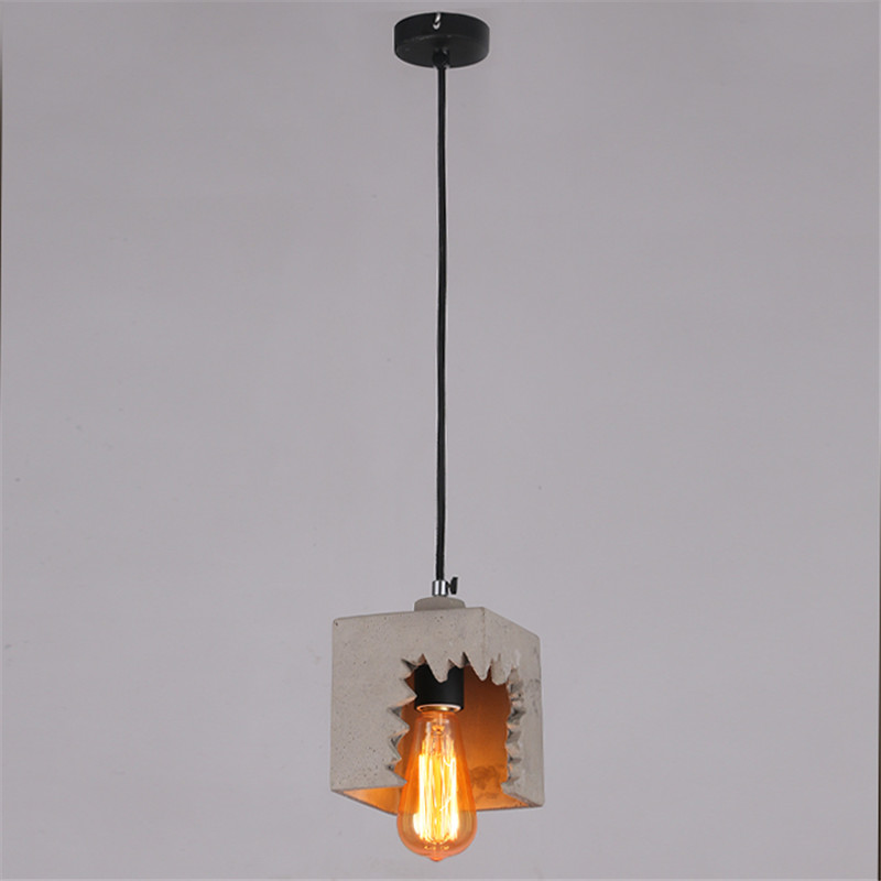 Modern cement lampshade Pendant Lights vintage Pendant Lamp Fixture Black Wire Edison E27 Bulb Suspension luminaire fpv x uav talon uav 1720mm fpv plane gray white version flying glider epo modle rc model airplane