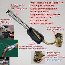 Spawarka gazowa gazu propan typoszereg Mapp lutowania latarka samo zapłonu latarka ręczna CGA600 hartowania ogrzewanie palnik grilla CE w Palniki spawalnicze od Narzędzia na