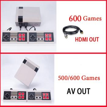 Salida HDMI/AV Mini TV consola de juegos de mano consola de videojuegos con 500/600 juegos NES diferentes integrados para 4K TV PAL y NTSC