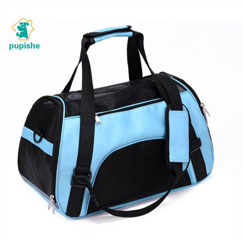 PUPISHE Pet Backpack Messenger Carrier Bags Cat Dog Carrier Outgoing Travel Packets Breathable Pet Handbag Yorkie