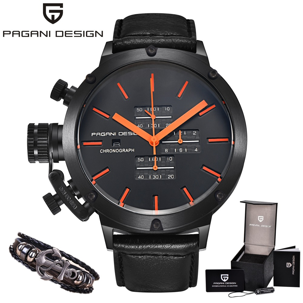 Mens Watches Top Brand PAGANI DESIGN Luxury Chronograph Waterproof Military Quartz C Watch Relogio Masculino erkek kol saati все цены