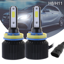 цена на 72W H8 H11 8000LM 6000K All-In-One LED Headlight Kit Hi or Lo  Beam Bulbs Automotive LED Headlamps Car accessories for Car Auto