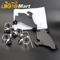 35 41mm Fork Bracket Gauntlet Headlight Fairing Trigger Lock Mount Kit For 1988 2016 2014 2015 Harley Sportster XL1200 XL883