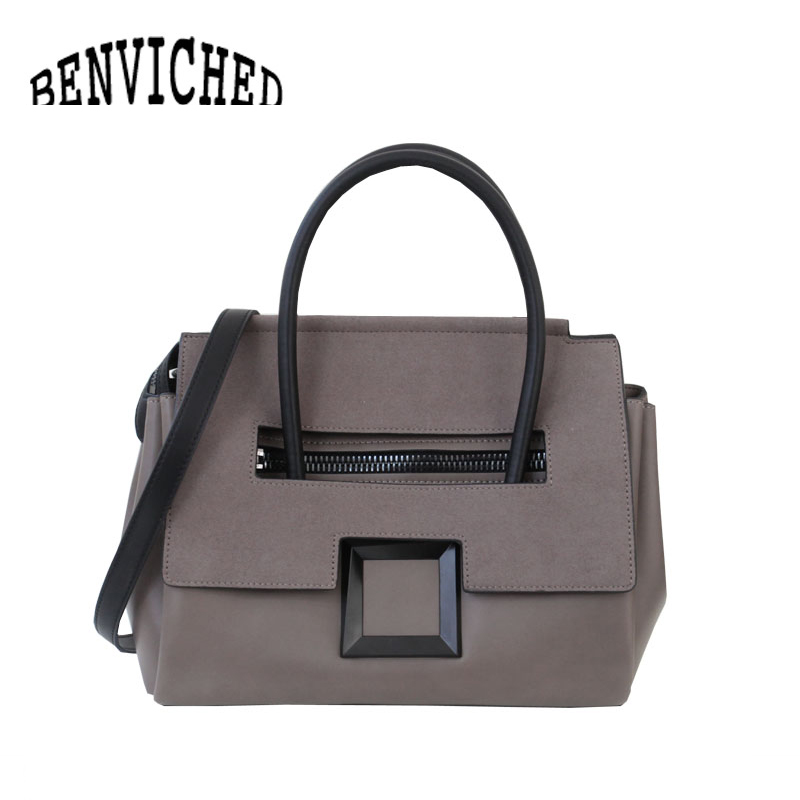 BENVICHED 2018 Classic Genuine Leather Women Shoulder Bag Ladies Handbags Fashion Top-handle Bags bolsa feminina L104 qiaobao 100% genuine leather handbags new network of red explosion ladle ladies bag fashion trend ladies bag