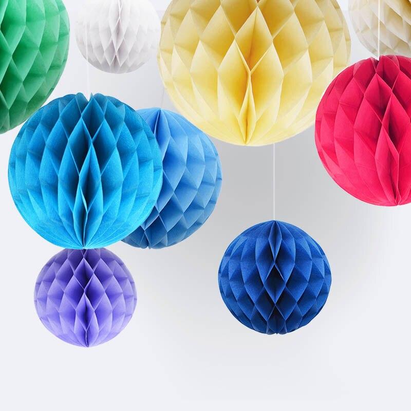 1Pc 2'' 4'' 6'' 8'' Honeycomb Ball Paper Flower Lantern Ball Wedding Home Decoration Kids Birthday Party Babyshower Supplies