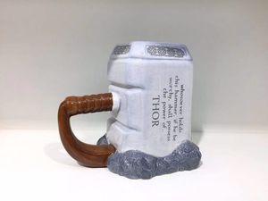 Image 3 - Thor קפה ספלי קרמיקה פטיש בצורת כוסות וספלים גדול קיבולת מארק creative drinkware
