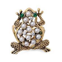 Silk Scarf For Women Brooch Pearl Frog Buckle Alloy Three Shawl Vintage Jewelry Fashion