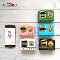 2019 New Sell! Mini Retro Portable Bluetooth Wireless Speaker Sound System 3D Stereo Music Surround Support Bluetooth,TF AUX USB