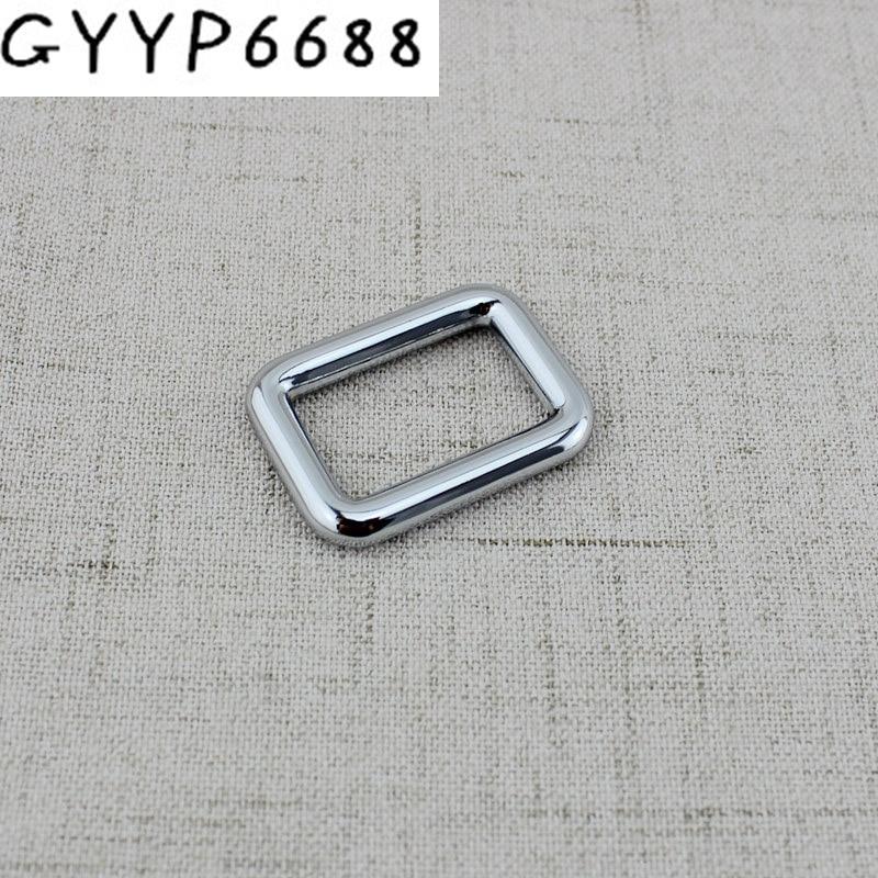 Acessórios de Ferragem de Encaixe de Metal Cores 32mm 38mm Fechado Fivelas Quadradas Bolsas Cinta Ajustar Fivela 10 Pçs 6 25mm