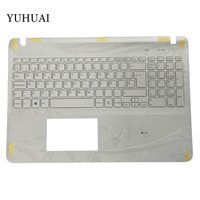 Spanish laptop keyboard for sony Vaio SVF15 FIT15 SVF151 SVF152 SVF153 SVF1541 SVF15E SP keyboard with Palmrest Cover