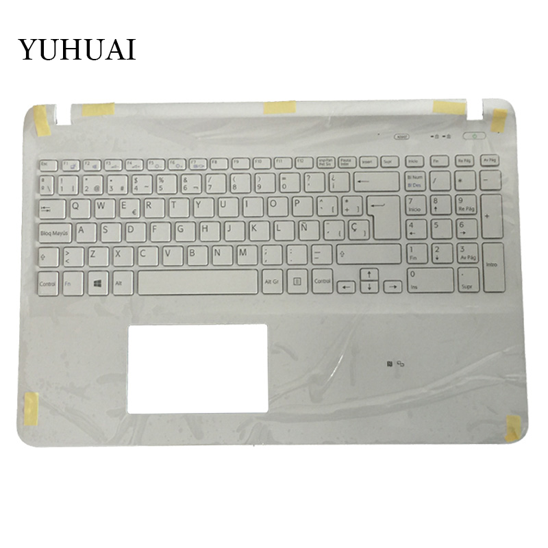 Spanish laptop keyboard for sony Vaio SVF15 FIT15 SVF151 SVF152 SVF153 SVF1541 SVF15E SP keyboard with Palmrest Cover for sony vpceh35yc b vpceh35yc p vpceh35yc w laptop keyboard