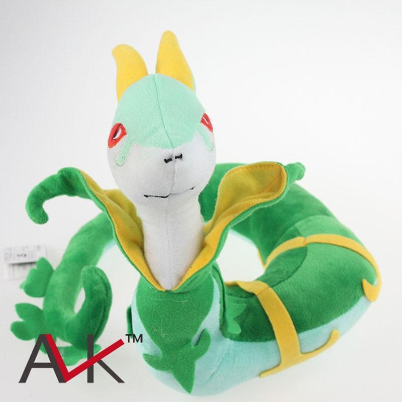 22 cm Kawaii XY Pikachu de alta calidad de la hierba de peluche de ratán serpiente de bolsillo Muñeca regalo Niños Juguetes Regalos de Navidad