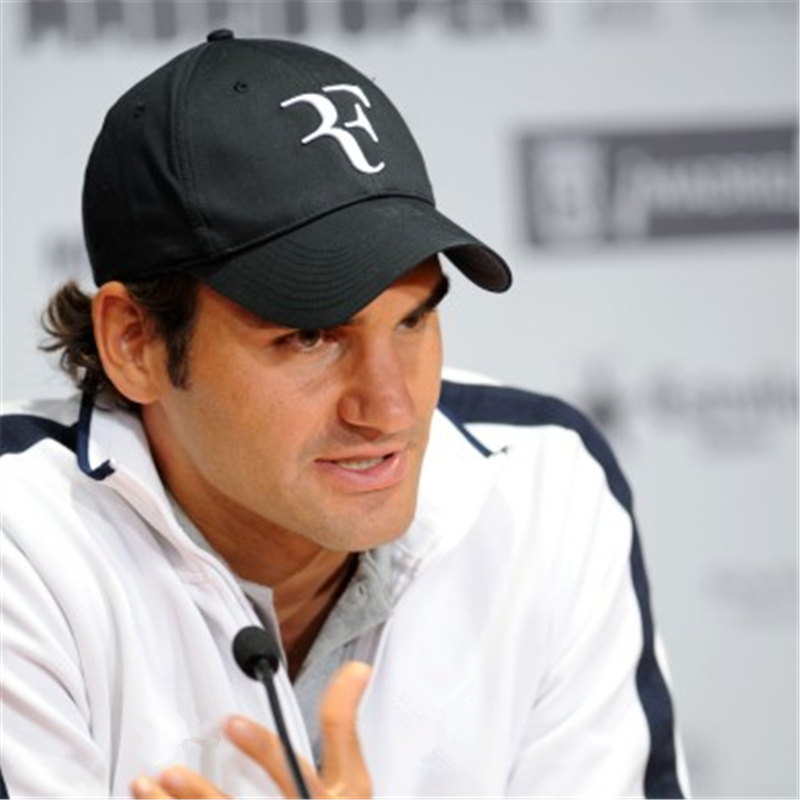 HTB1LqYydib.BuNjt jDq6zOzpXaG - 2018 Tennis Star Roger Federer Dad Hat Sport baseball cap 100% cotton 3D embroidery Unisex Snapback caps Tennis hat F Hats