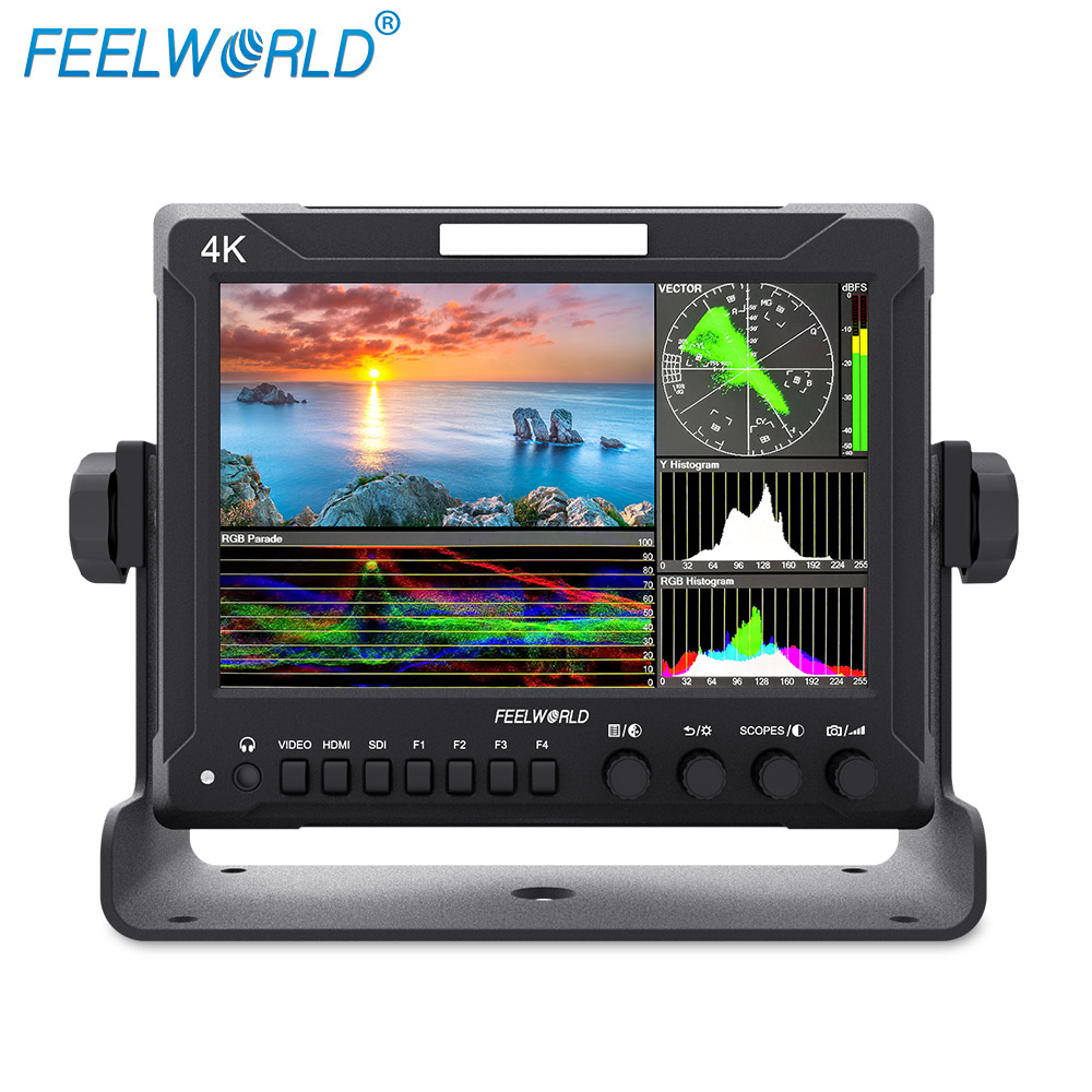 Feelworld Z72 7 Inch IPS FHD SDI 4K HDMI On-camera Field Monitor for DSLR with Scopes Waveform new aputure vs 5 7 inch 1920 1200 hd sdi hdmi pro camera field monitor with rgb waveform vectorscope histogram zebra false color