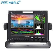 Feelworld SDI Z72 7 Polegada IPS FHD 4 K HDMI Campo On-camera Monitor para DSLR com Escopos de forma de Onda
