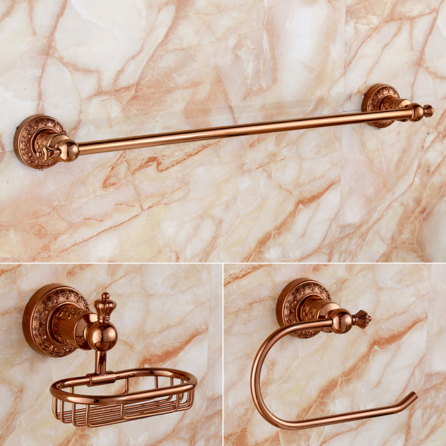 Free shipping,solid brass Bathroom Accessories 3 Set,,Towel Bar ...