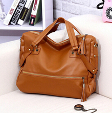 Free shipping 2015 Summer new  European style  fashion leisure bag embossed / women messenger bag / laptop tassel handbag