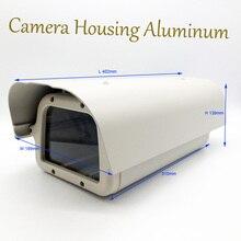 Out of doors CCTV Safety Surveillance Digicam Housing 402*189*139mm Grey Aluminum Climate-proof Waterproof Digicam Case Hoesje