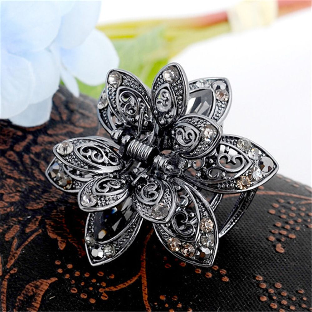 Vintage Big Crystal Flower Hair Claws Wedding Hair Clip Women Hair Accessories