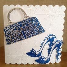 YaMinSanNiO Shoes Handbag  Metal Cutting Dies Scrapbooking New Craft Dies Cuts for Card Making DIY Embossing Die цена