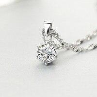 S-S925 prata incrustada seis Garra colar de Pingente Coreano moda prata pingentes de jóias por atacado para vender comércio exterior